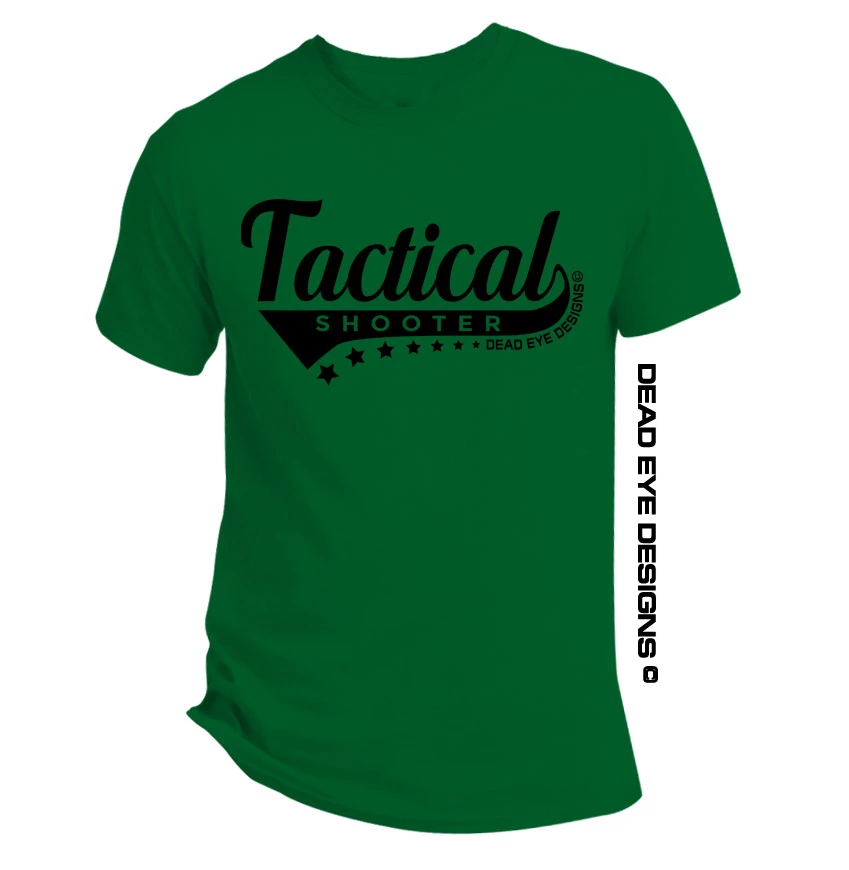 "DED Custom ""Tactical Shooter"" Green Black T-Shirt"