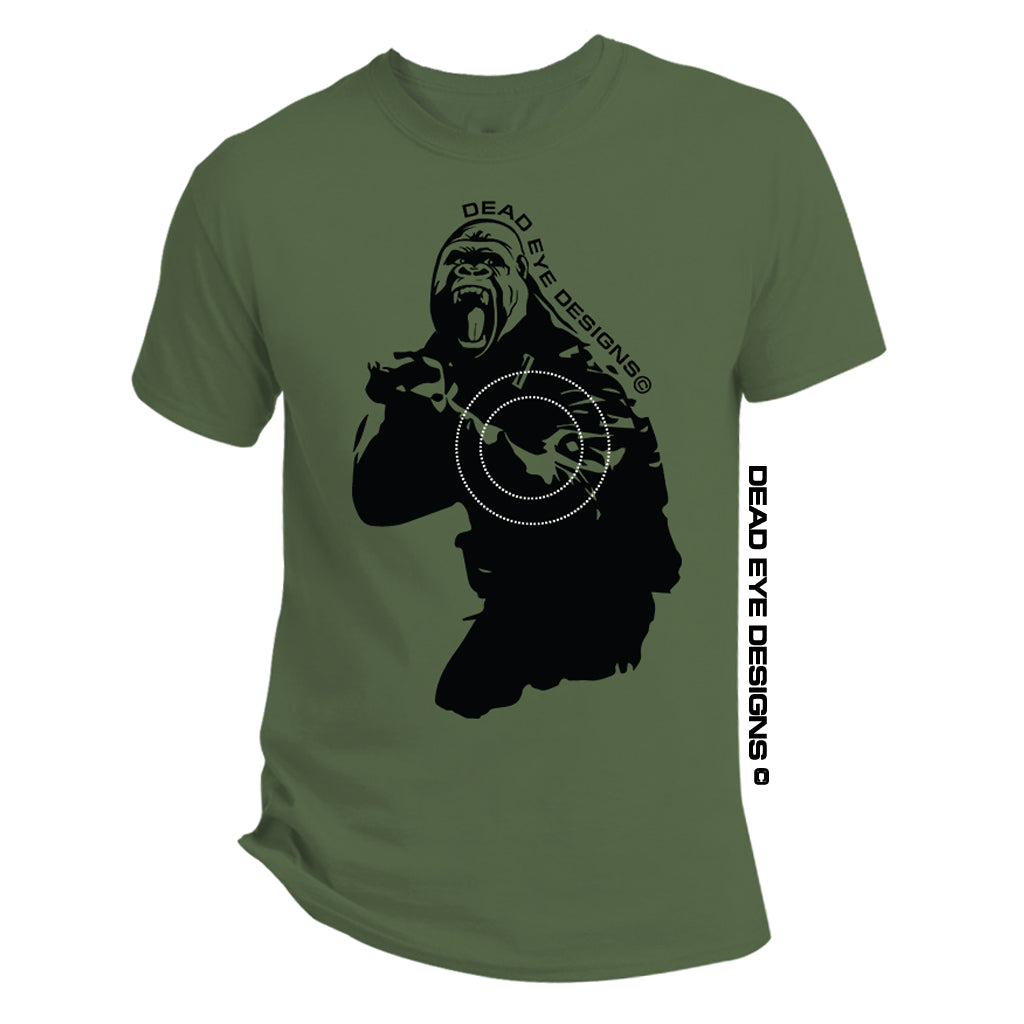 "DED Custom ""Tactical Joerilla Target"" Green Black T-Shirt"