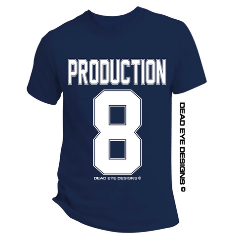 "DED Custom ""Jersey Styling"" Navy Blue White T-Shirt"