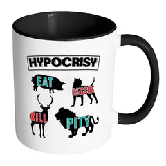 Activist Mug Hypocrisy White 11oz Accent Coffee Mugs