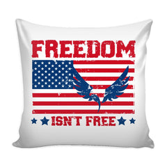 American Flag Graphic Pillow Cover Freedom Isnt Free