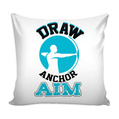 Archery Graphic Pillow Cover Draw Anchor Aim