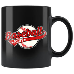Baseball Aunt Mug Baseball Aunt 11oz Black Coffee Mugs