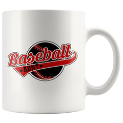 Baseball Mug Baseball Aunt 11oz White Coffee Mugs