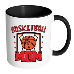 Basketball Mom Mug White 11oz Accent Coffee Mugs