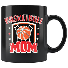 Basketball Mug Basketball Mom 11oz Black Coffee Mugs