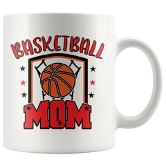 Basketball Mug Basketball Mom 11oz White Coffee Mugs