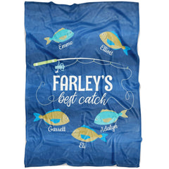 FARLEY'S Best Catch Custom Fathers Day Fleece Blanket