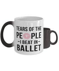 Funny Ballerino Ballerina  Mug Tears Of The People I Beat In Ballet Coffee Mug Color Changing 11oz