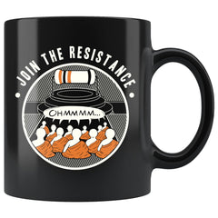Funny Tibet Science Physics Mug Join The Resistance Ohmmm 11oz Black Coffee Mugs