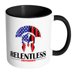 Relentless Defender Mug White 11oz Accent Coffee Mugs