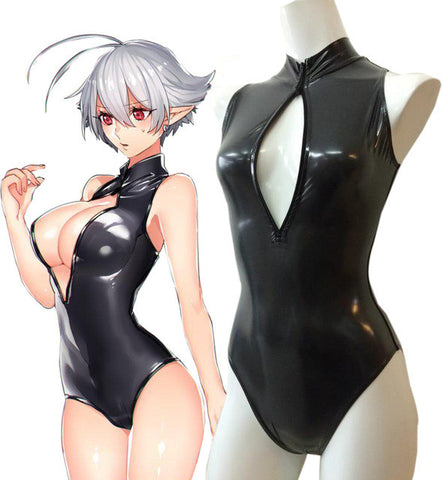 Anime Sexy Moe Girls Open Chest Swimsuit Cosplay
