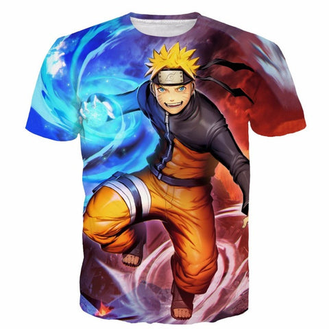 Naruto Classic 3D Short Sleeve Anime T-Shirt