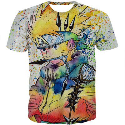 Naruto Artistic Japanese 3D Short Sleeve Anime T-Shirt