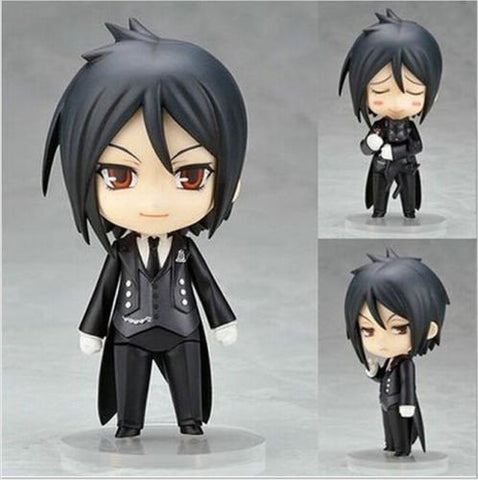"4"" Black Butler Sebastian Figure - 3 Faces"