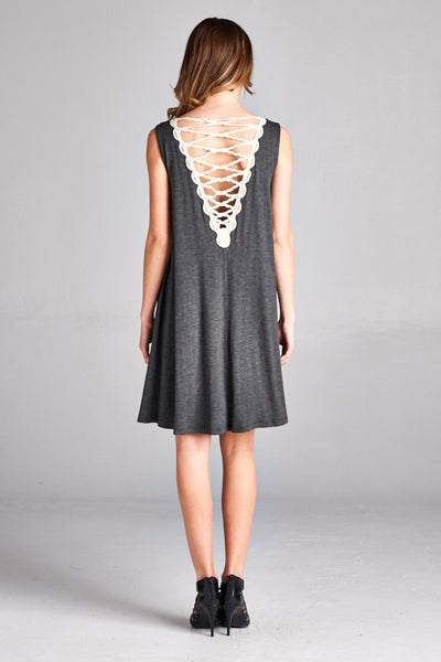 Crochet Scallop Edge Dress, Dress - Eleven Oh Two