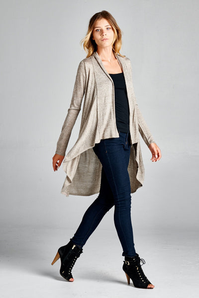 High-Low Cardigan, Top - Eleven Oh Two