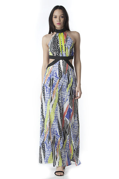 Side Cutout Maxi Dress, Dress - Eleven Oh Two