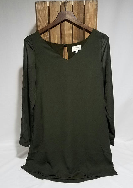 Olive Shift Dress, Dress - Eleven Oh Two