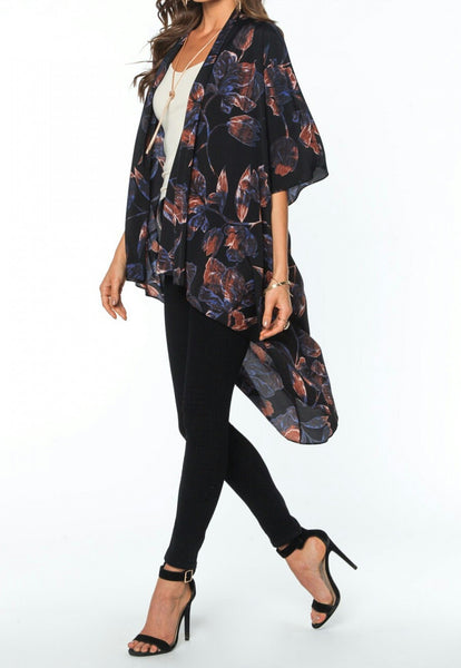 Floral Cardigan, Top - Eleven Oh Two