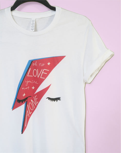 Bowie Oh no Love, You're Not Alone T-Shirt