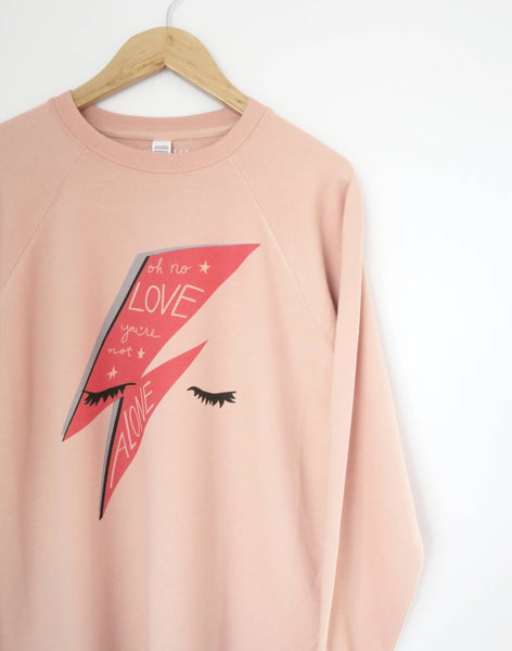 Bowie Love Lightweight Sweater, Peachy Rose