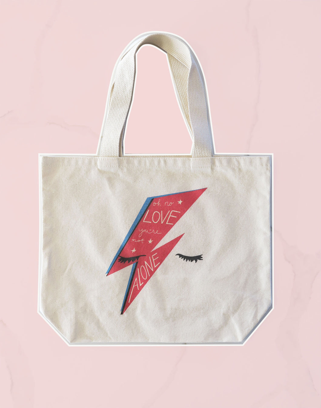 Bowie Oh No Love, You're Not Alone Tote Bag