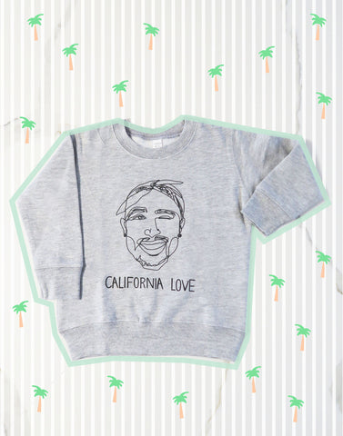 California Love Tupac Kids Sweatshirt