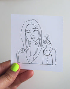 Jessica, Parasite Fan Art Sticker