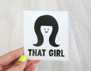 That Girl Vinyl Sticker