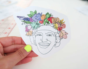 Flowers for Marsha Sticker