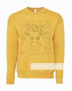 Sample Sale- Unisex Wu-Tang Fan Art Sweater, Drop Shoulder
