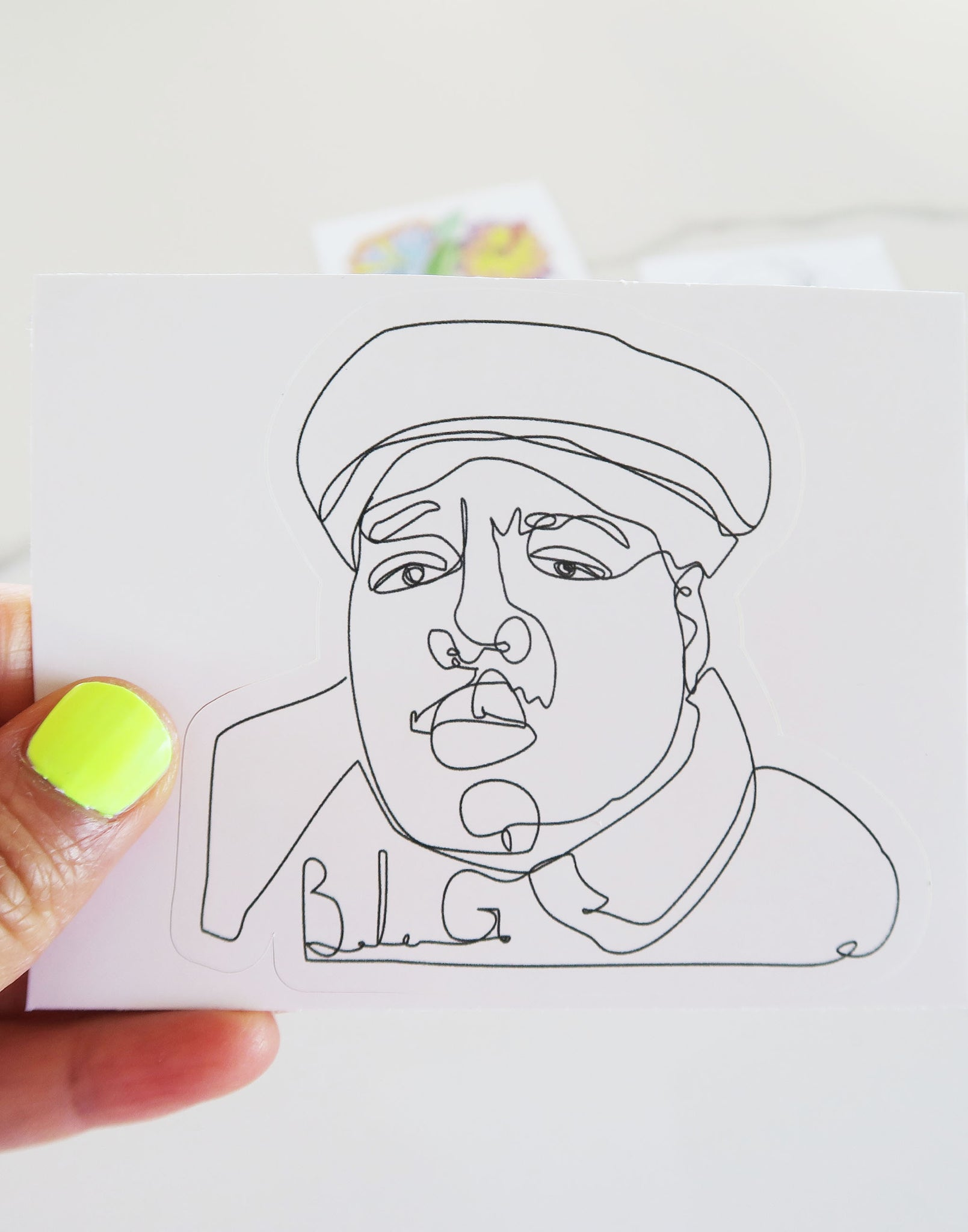 Notorious BIG Vinyl Sticker