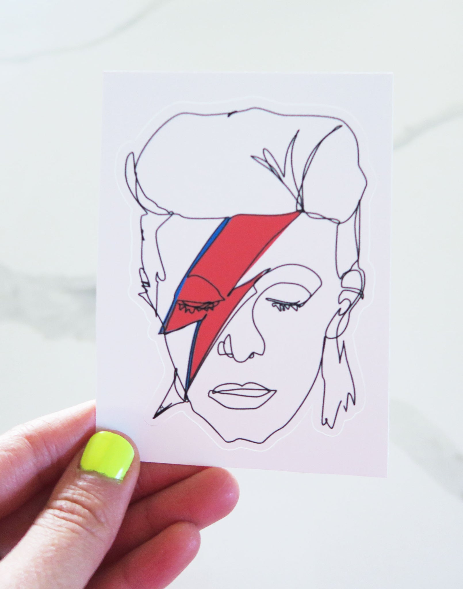 Bowie Inspired Vinyl Sticker