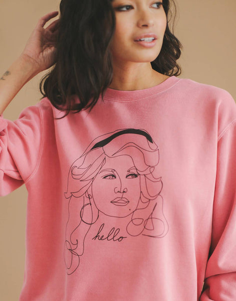 Hello Dolly Adult Sweater, Vintage Pink