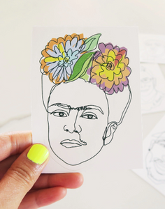Viva la Frida Kahlo Vinyl Sticker