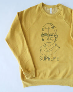 "Notorious RBG Ruth Bader Ginsburg ""Supreme"" Sweater"