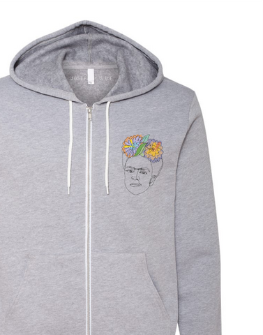 Pocket-Size Frida Zip Hoodie Sweater