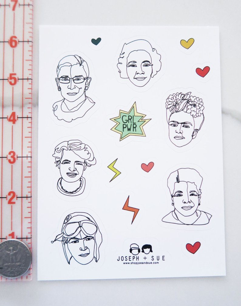 GRL PWR Vinyl Sticker Sheet