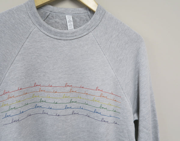 Love is Love Athletic Gray Sweater