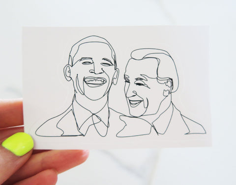 Obama and Biden BFF Vinyl Sticker