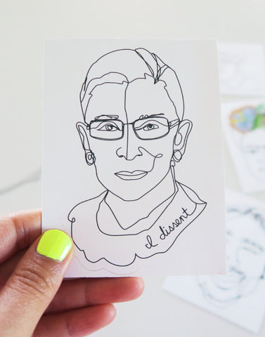 Notorious RBG, Ruth Bader Ginsburg Vinyl Sticker