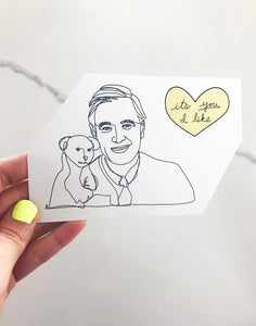 Mr. Rogers Sticker (2 stickers)