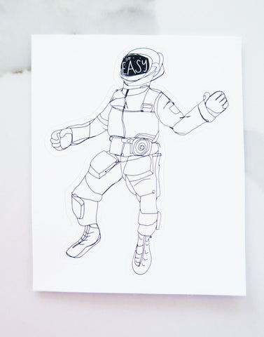 Chill Spaceman Vinyl Sticker