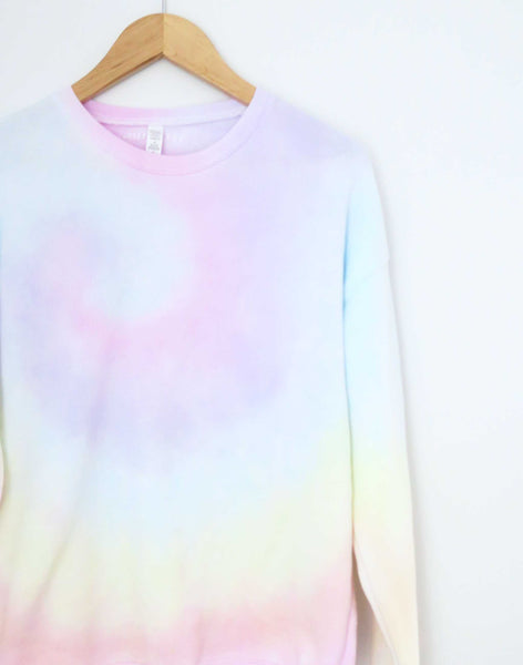 Heart on Your Sleeve, Rainbow Tie Dye Sweater