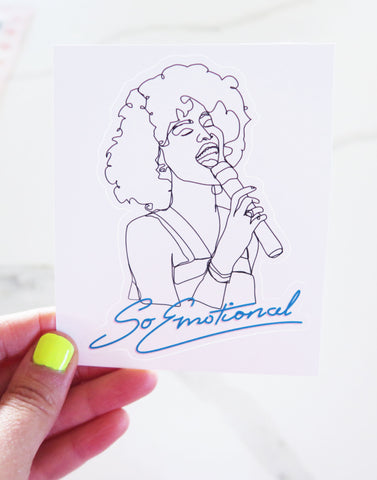 Whitney Houston Inspired Vinyl Sticker
