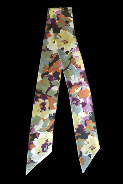 Twilly Collection - Spring Flowers - Purple & Beige