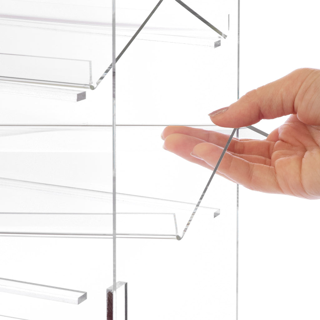 Lockable Showcase Rotating Acrylic Display with 4 Removable Shelves