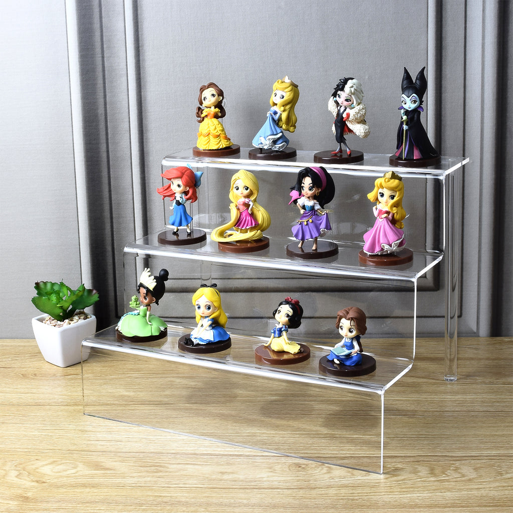 "Ikee Design Acrylic Riser Display Shelf for POP Figures 12""W x 9""D x 9""H"