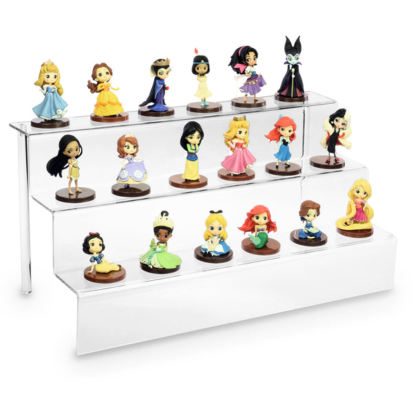 "Ikee Design Acrylic Riser Display Shelf for POP Figures 18""W x 9""D x 9""H"